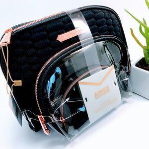 NWT - Aimee Kestenberg Designer Cosmetic Bag Set 3
